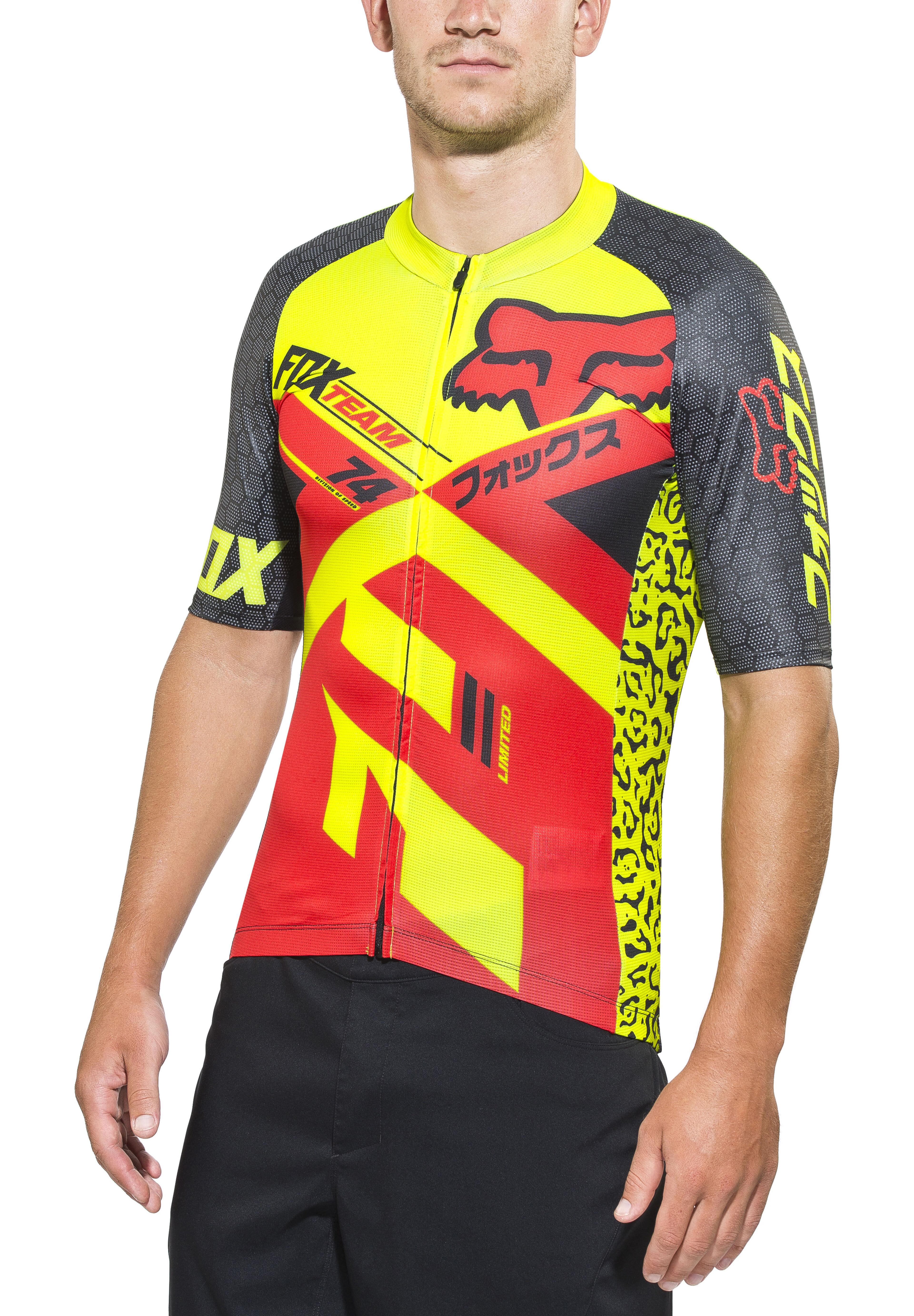 7cc60894d Fox Ascent Pro Bike Jersey Shortsleeve Men yellow red at Bikester.co.uk